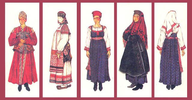 История женского русского национального костюма / Vene naiste rahvakostüümi ajalugu
